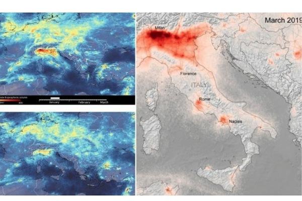 Bie niveli i ndotjes në Europë  falë masave kundër korona virusit